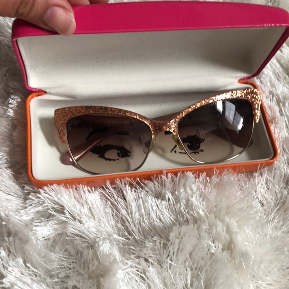 32b1a02d60150 kate spade Accessories - Kate Spade rose gold Shira sunglasses